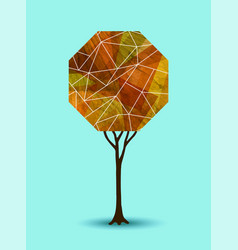 Abstract fall tree geometric design vector