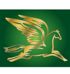 Antique flying horse Pegasus vector