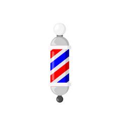 Barber pole sign vector