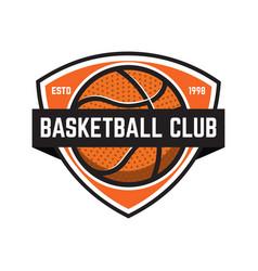 basketball sport emblems design element for vector image