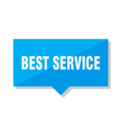 Best service price tag vector