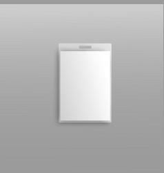 Blank plastic id badge holder editable 3d vector