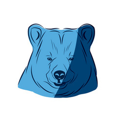 Blue head bear animal free spirit symbol vector