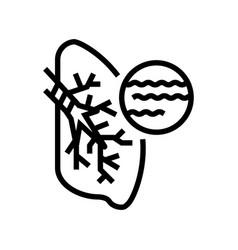 Bronchitis disease line icon vector