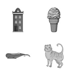 building animal and other monochrome icon in vector image