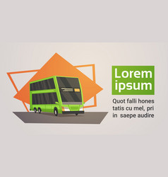 bus city transport concept banner with copy space vector image