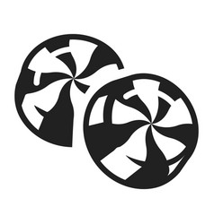 candy swirl icon simple style vector image