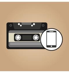 cassette vintage smartphone style hipster vector image