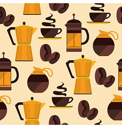 Coffee seamless pattern for menu coffee shop vector image