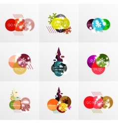 Collection of Christmas Sale Stickers Labels and vector image