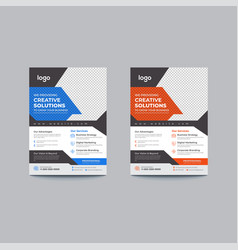 Corporate business flyer template vector