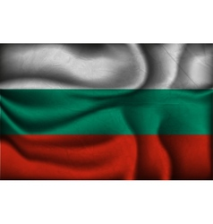 Crumpled flag of Bulgaria on a light background vector