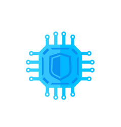 Cryptography cyber security icon on white vector