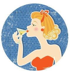 drink martini vector image