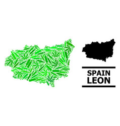 Drugs mosaic map leon province vector