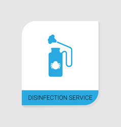 Editable filled disinfection service icon from vector