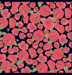 elegant botanical seamless pattern with beautiful vector image