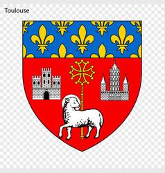 Emblem toulouse vector