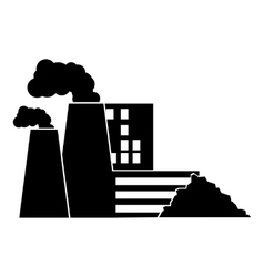 Factory icon simple style vector image
