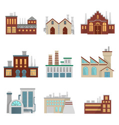 Factory set modern industrial vector