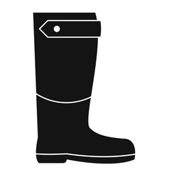 Farm boot icon simple style vector