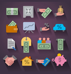 finances icon set vector image