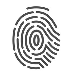 fingerprint security identification and privacy vector image