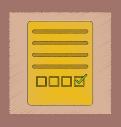 Flat shading style icon checklist questionnaire vector