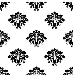 Floral damask arabesque motifs seamless pattern vector image