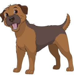 Funny purebred border terrier vector