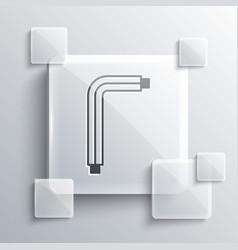 Grey tool allen keys icon isolated on vector