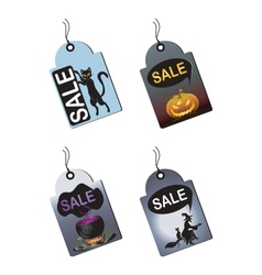 Halloween Sale Tags vector image