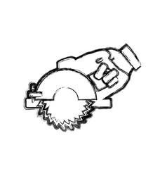 hand circular saw carpentry tool vector image