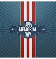 Happy Memorial Day realistic Banner and Ribbon vector image