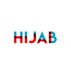 Hijab template design vector