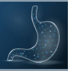 human stomach laser surgery medicine disease drug vector image