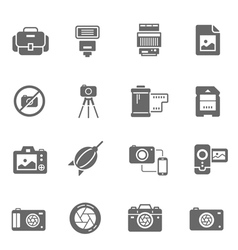 Icon set - camera and accessory vector