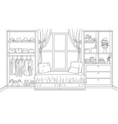 interior a cozy bedroom vector image
