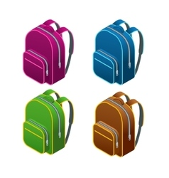Isometric school bag Isolated on white background vector image