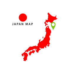 Japan map template design vector