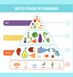 keto food nutrition pyramid low carb foods vector image