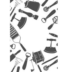 Kitchen utensils set vector