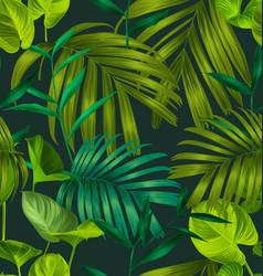 Leaf seamless pattern vector