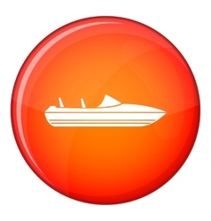 Little powerboat icon flat style vector
