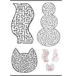 maze diagrams set vector image
