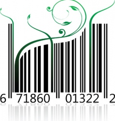 Nature barcode vector