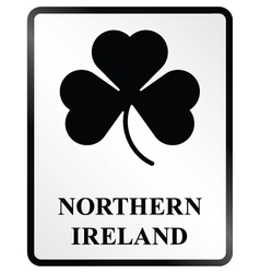 Northern Ireland Sign vector image vector image