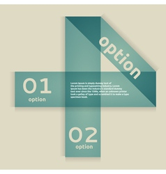 Option Banner vector image vector image