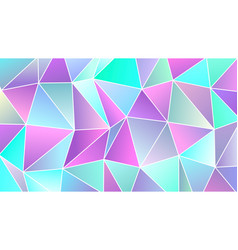 pastel cold colors low poly banner design vector image