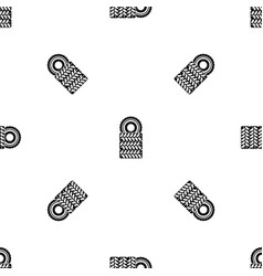 pile of tires pattern seamless black vector image